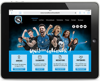 Site internet Marseille Nord Handball par Pesto Studio
