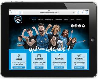 Site internet Marseille Nord Handball par Pesto Studio
