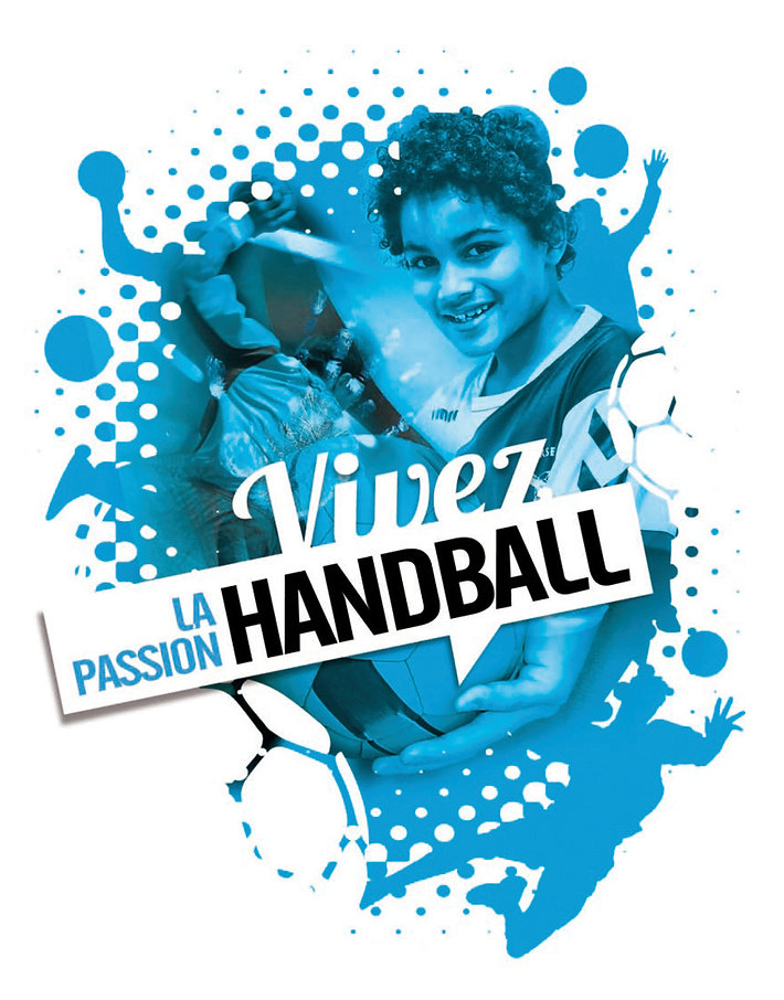Flyer Marseille Nord Handball par Pesto Studio