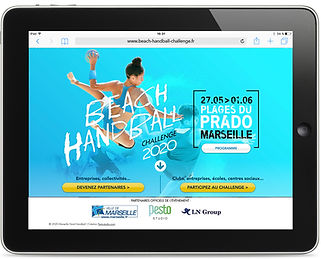 Site internet Beach-Handball Challenge par Pesto Studio