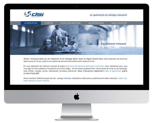 Site internet DSI par Pesto Studio