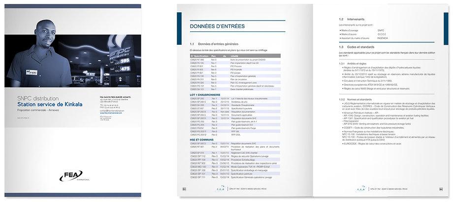 Dossier appel d'offre FEA International