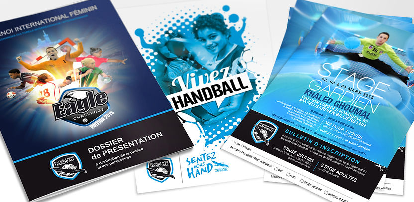 Flyers Marseille Nord Handball par Pesto Studio