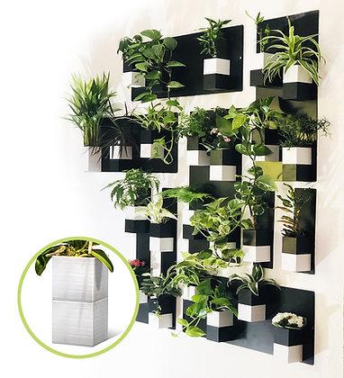 Plant wall XL white pots