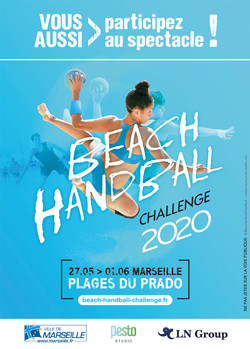 Flyer Beach Handball Challenge par Pesto Studio