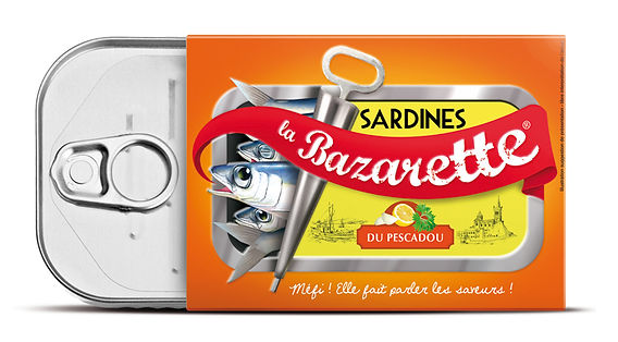 Packaging Sardines La Bazarette par Pesto Studio