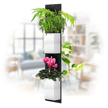 Mobile plant M white pots