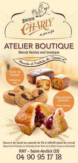 Flyer Biscuits Charly par Pesto Studio