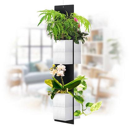 Mobile plant XL white pots