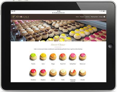 site internet Choulala par Pesto Studio