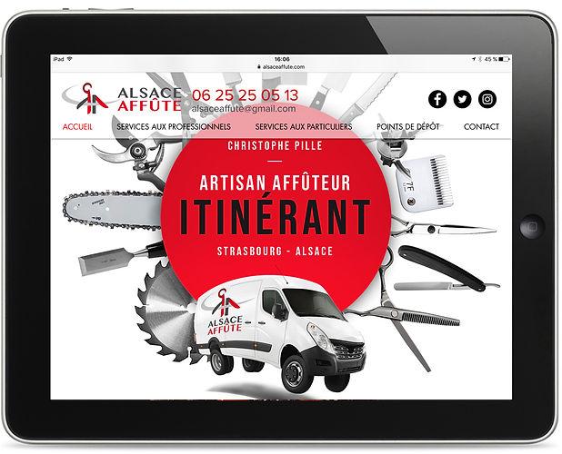 Site internet Alsace Affûte par Pesto Studio