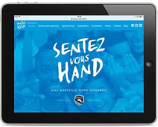 Site internet Sentez-vous hand par Pesto Studio