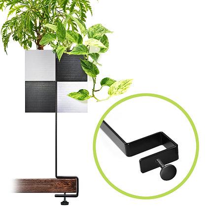 Support de bureau + 2 Capill'O Cubes Blanc/Noir et Noir/Blanc