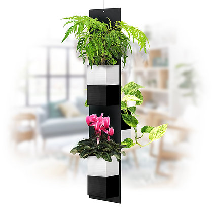 Mobile végétal M pots noirs/blancs