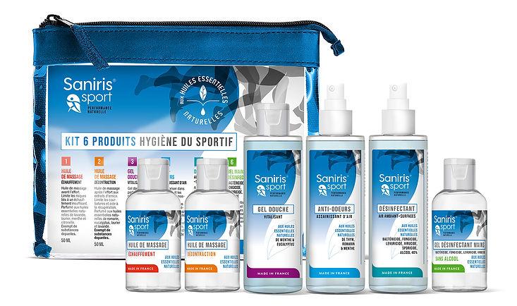 Design packaging gamme Saniris sport par Pesto Studio