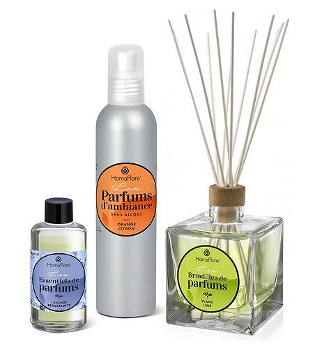 Design packaging gamme Homaflore par Pesto Studio