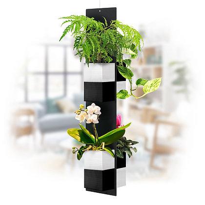 Mobile végétal XL pots noirs/blancs