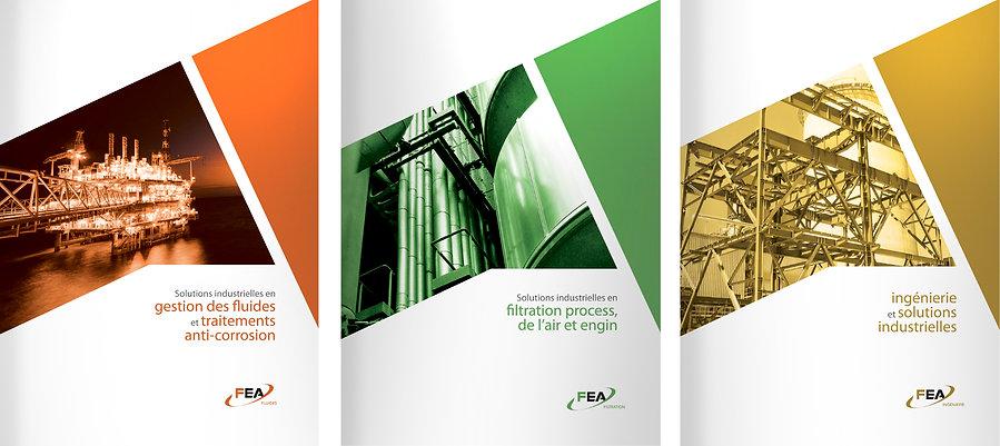 Plaquettes FEA International par Pesto Studio