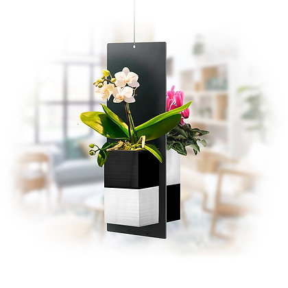 Vegetable mobile S black / white pots