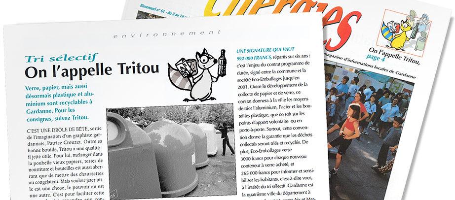 Mascotte Tritou par Pesto Studio
