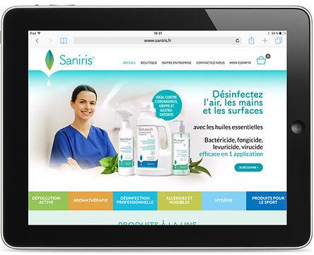Site internet Saniris par Pesto Studio