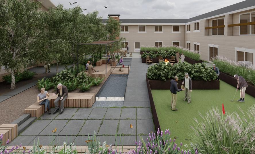 Wilmington Rehabilitation Courtyards