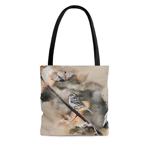 House Sparrow Watercolor Tote Bag