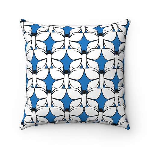 Black and White Butterfly Pattern Pillow