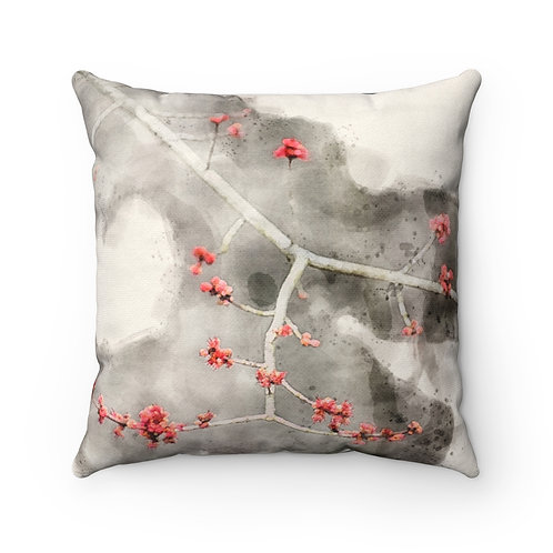 Copy of Small Red Leaves Watercolor Pillow