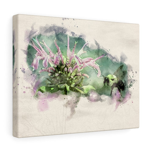 Bee and Flower Watercolor Canvas