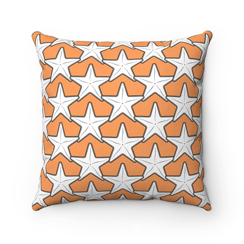 Black and White Starfish Pattern Pillow