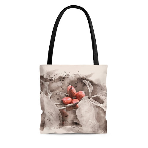 Berry Watercolor Tote Bag