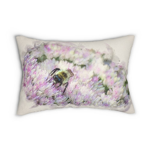 "Bumblebee Watercolor 14"" x 20"" Pillow"