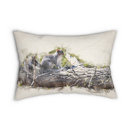 "Squirrel Watercolor 14"" x 20"" Pillow"