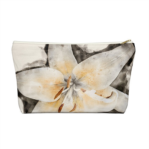 Lily Watercolor Accessory Pouch w T-bottom