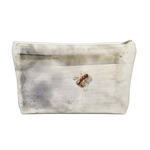 Honeybee Watercolor Accessory Pouch w T-bottom