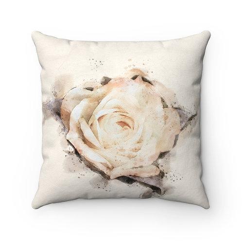 Yellow Rose Watercolor Pillow