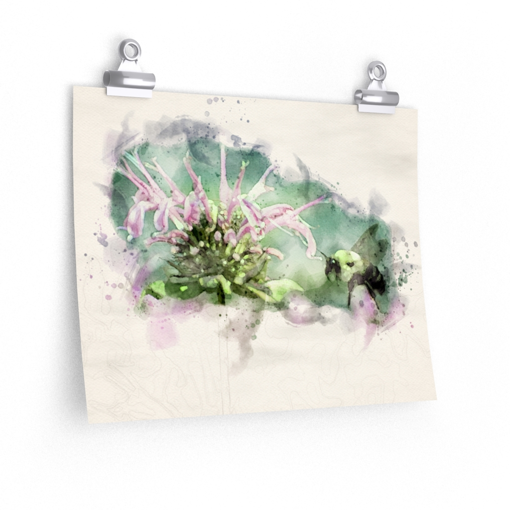 bee-and-flower-watercolor-print
