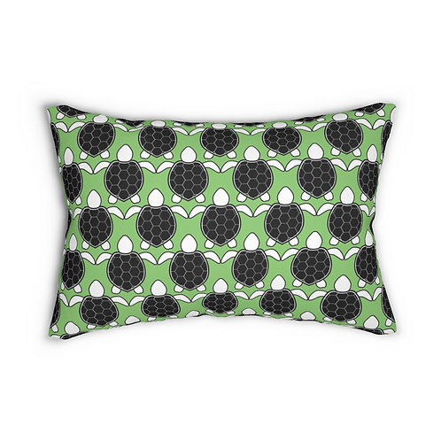 """Black and White Turtle Pattern 14"""" x 20"""" Pillow"""