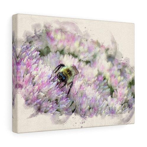 Bumblebee Watercolor Canvas