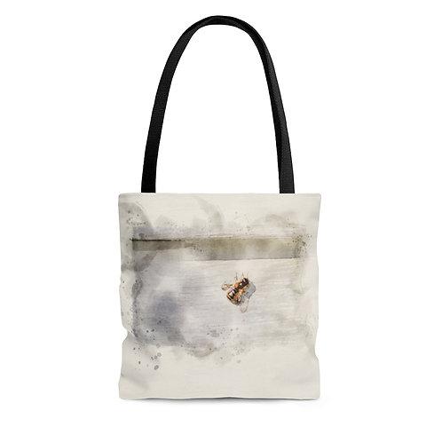 Honeybee Watercolor Tote Bag