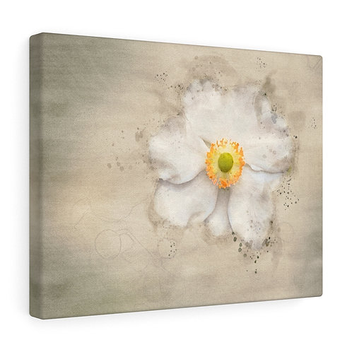 White Flower Watercolor Canvas