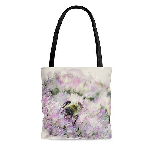 Bumblebee Watercolor Tote Bag