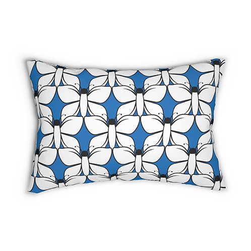 """Black and White Butterfly Pattern 14"""" x 20"""" Pillow"""