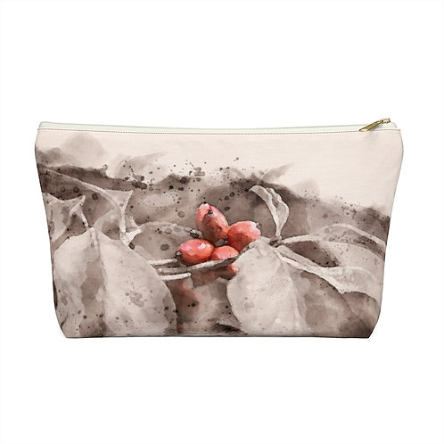 Berry Watercolor Accessory Pouch w T-bottom