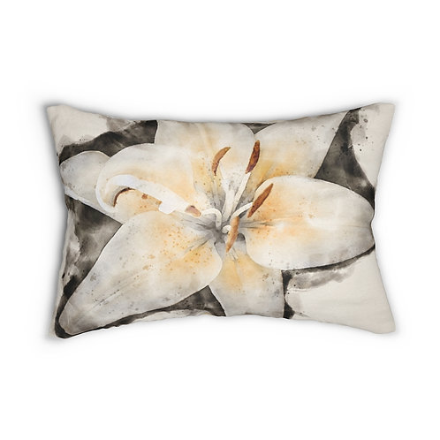 "Lily Watercolor 14"" x 20"" Pillow"