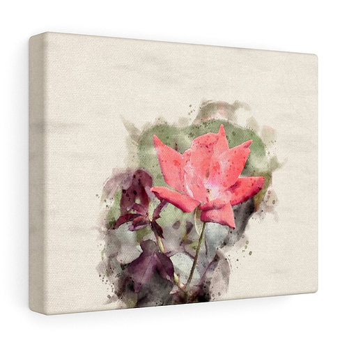 Red Rose Watercolor Canvas