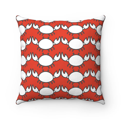 Black and White Crab Pattern Pillow