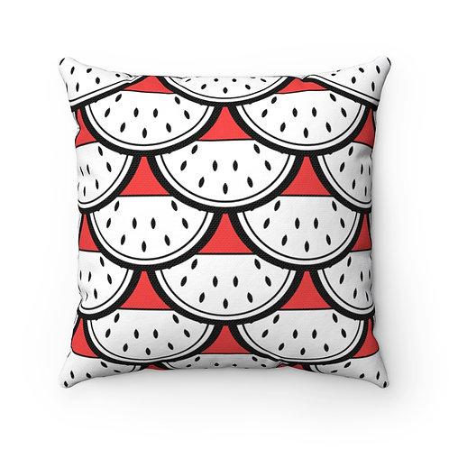 Black and White Watermelon Pattern Pillow
