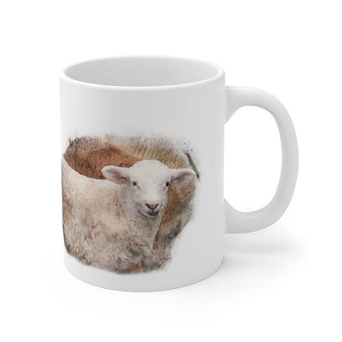 Lamb Watercolor Ceramic Mug 11oz